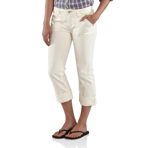WB075- Women's Curvy-Fit Tomboy Cropped Pant